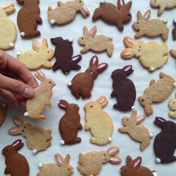 Osterhasen backen mit Kindern einfache Osterhasen Kekse
