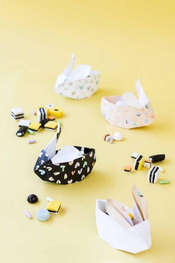 Ostern Geschenke - nette Papierfiguren