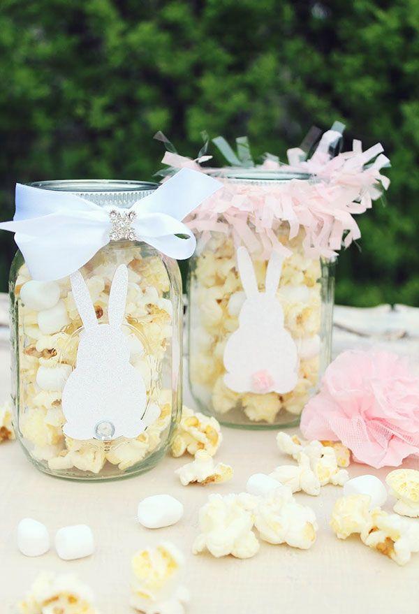Popcorn im Glas - tolle Osterdeko