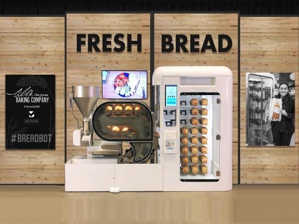 Roboter Köche werden bald unser Brot backen, Kaffee brauen und Salat machen breadbot brot automat machine