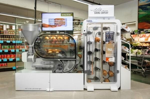 Roboter Köche werden bald unser Brot backen, Kaffee brauen und Salat machen bredbot brot supermarkt automat