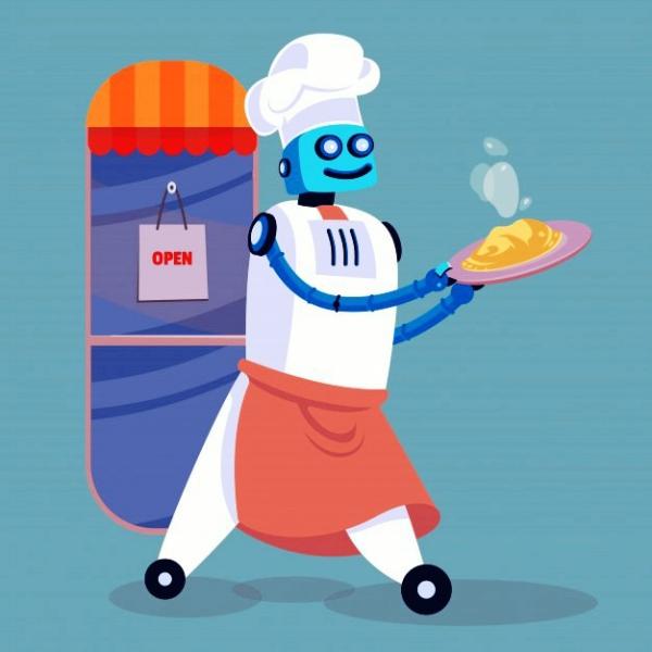 Roboter Köche werden bald unser Brot backen, Kaffee brauen und Salat machen restaurant servieren und aufräumen