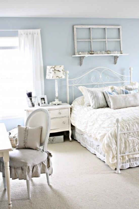 Romantisches Schlafzimmer Ideen zur Einrichtung und Raumgestaltung alles in Weiß