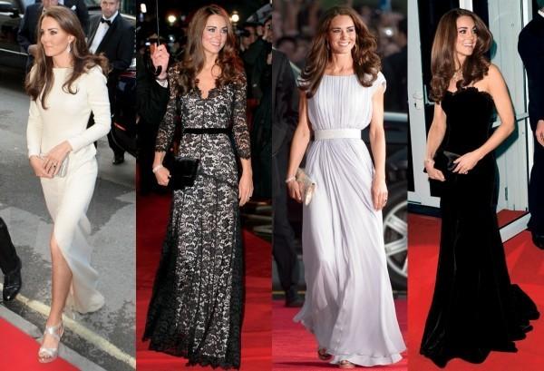 Schöne Abendkleider von Kate Middleton