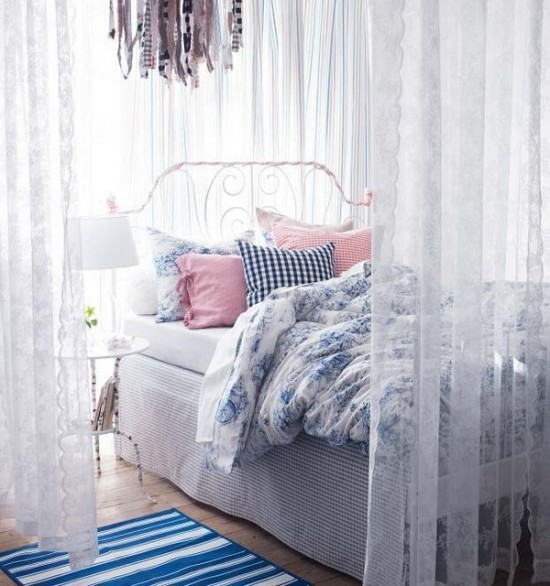 Schlafzimmer Ideen Baldachin viel Romantik