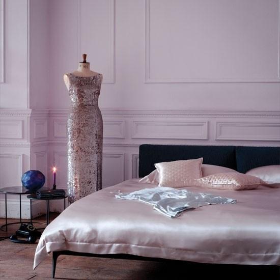 Schlafzimmer Ideen etwas Glanz ins Ambiente einführen Bettwäsche aus Satin