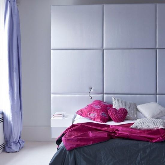 Schlafzimmer Ideen feminines Flair Satin