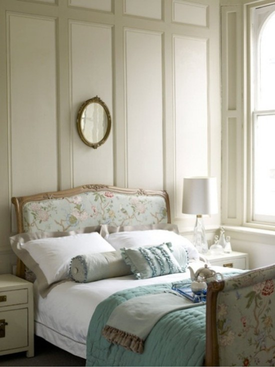 Schlafzimmer Ideen frische Farben und verspielte Muster