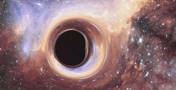 Schwarzes Loch im Weltraum erste Bilder im Zentrum von einer Galaxie 55 Millionen Lichtjahre entfernt