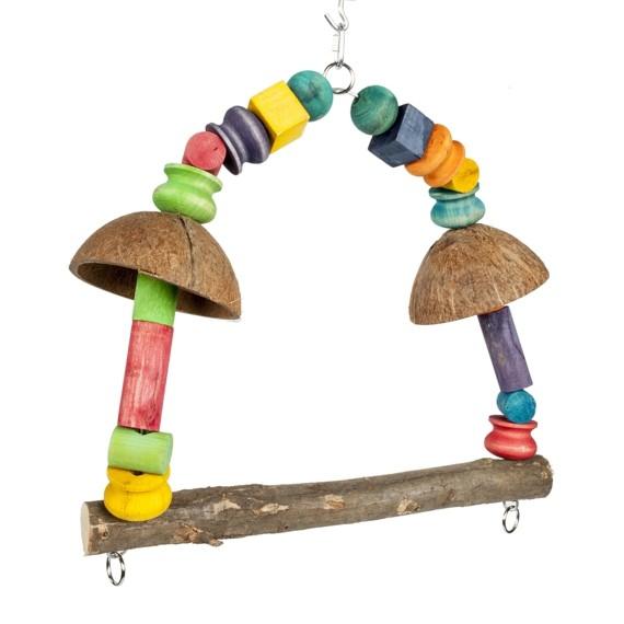 Spielzeug für Wellensittiche DIY Vogelspielzeuge Schaukel