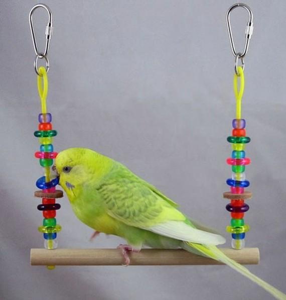 Spielzeug für Wellensittiche basteln Vogelspielzeug Wellensittich Zubehör