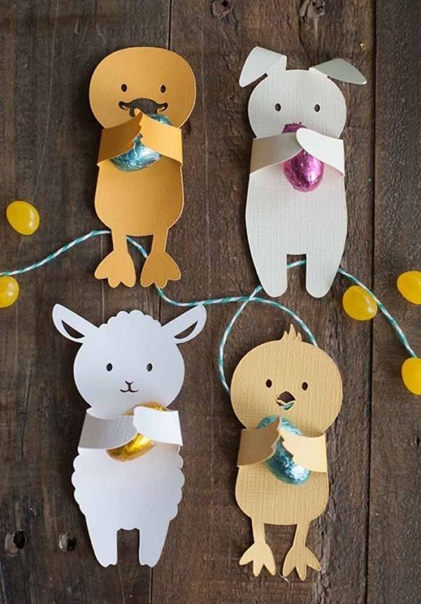 Tolle Papier-Tierchen und Ostern Geschenke
