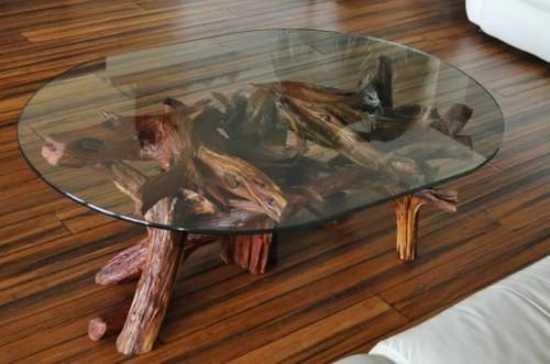 Treibholz im Interieur Couchtisch einmaliges Design