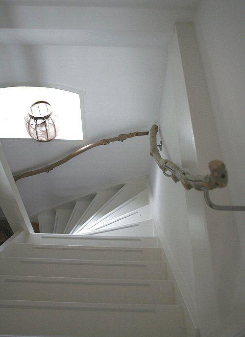 Treibholz im Interieur Gelände aus Schwemmholz im Treppenhaus