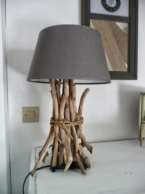 Treibholz im Interieur Lampenfuß Unikat gibt es kein zweites Mal