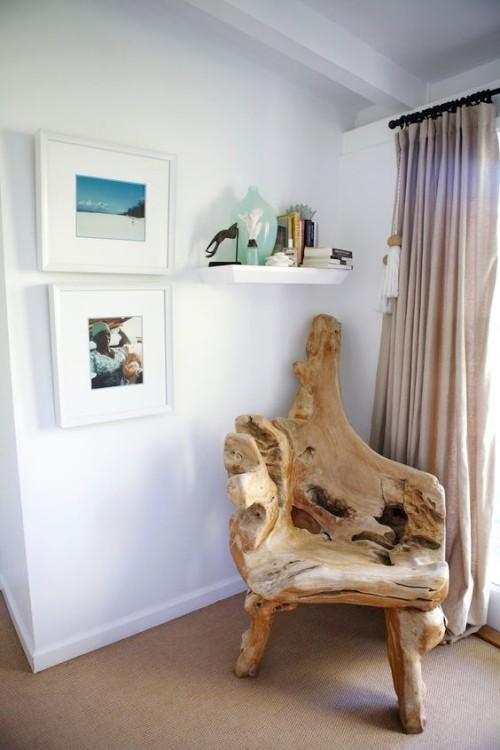 Treibholz im Interieur Stuhl in der Leseecke