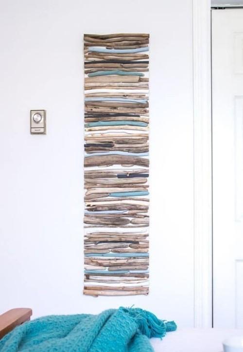 Treibholz im Interieur Wanddeko aus Altholz