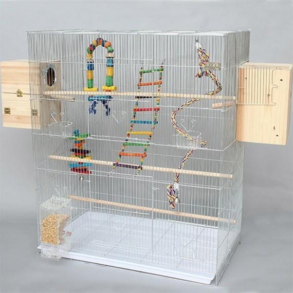 Wellensittich Spielplatz Käfig DIY Vogelspielzeug