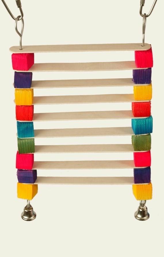 Wellensittich Spielzeug selber bauen Bastelideen Vogelspielzeuge Leiter