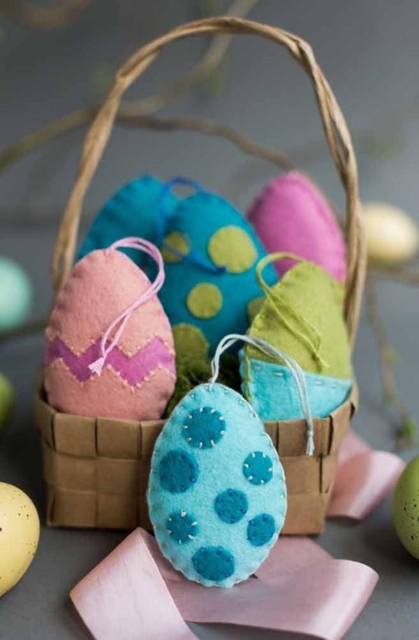 Wunderbare Textil-Eier Ostern Geschenke