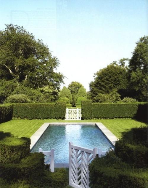 Zaun um Pool Ideen grüne Wand bester natürlicher Sichtschutz um den Gartenpool