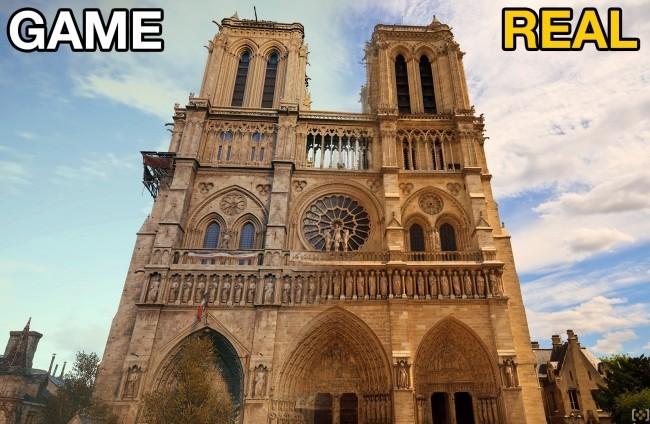 Zwei Drohnen und der Feuerwehrroboter Colossus halfen, das Notre Dame Feuer zu stoppen assassins creed modell von der katedrale