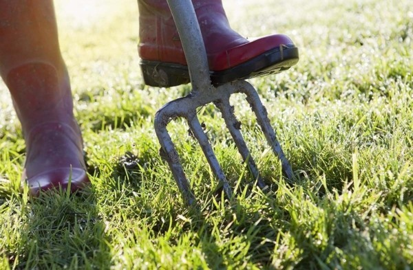 boden umgraben ziergarten vorbereiten auf sommer