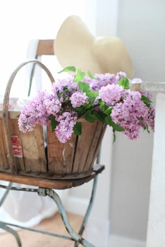 deko ideen mit flieder nostalgische vintage dekoration