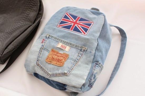 einen coolen rucksack jeans upcycling