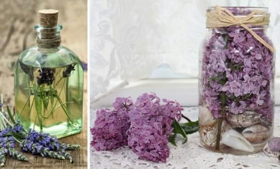 einfache deko ideen mit flieder und lavendel
