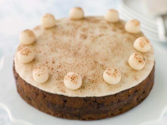 einglischer Früchtekuchen Rezepzt Kuchen zum Muttertag mit Marzipan