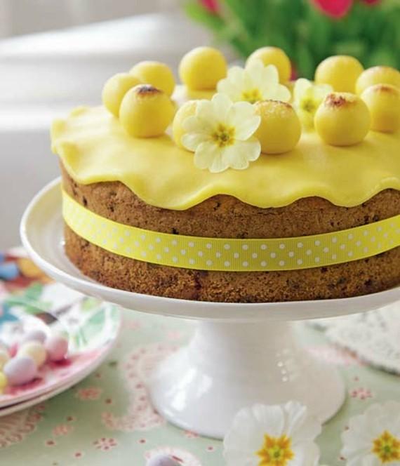 englischer Früchtekuchen backen Kuchen Muttertag Osterkuchen Marzipan Glasur