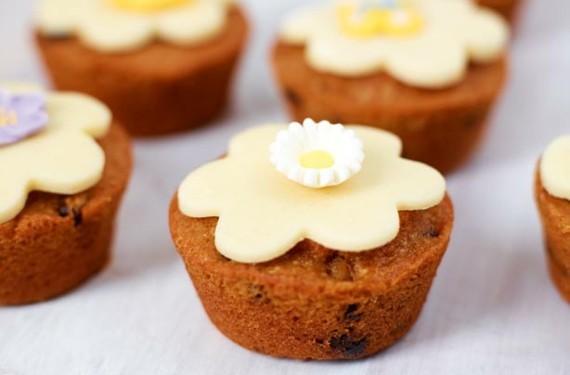 englischer Früchtekuchen backen Kuchen Muttertag Törtchen Marzipan