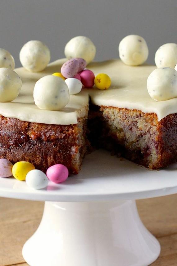 englischer Früchtekuchen Rezept Kuchen zum Muttertag Simnel Osterkuchen