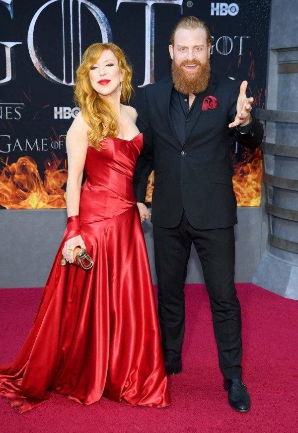 game of thrones premiere hbo gry molvaer hivju und Kristofer Hivju
