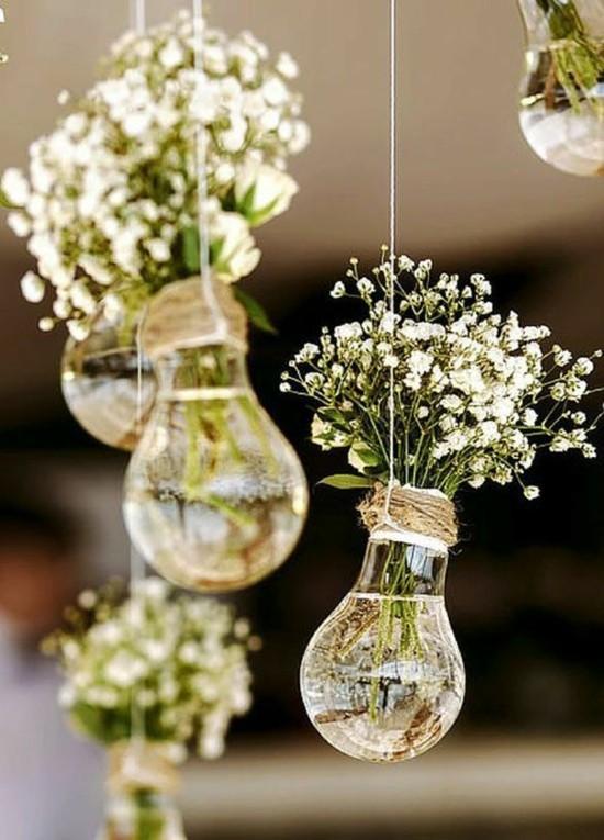 glühbirnen vasen hochzeitsdeko selber machen