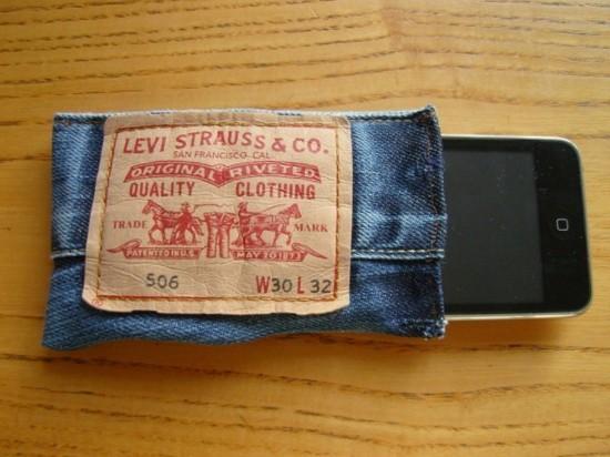 händytasche basteln jeans upcycling idee