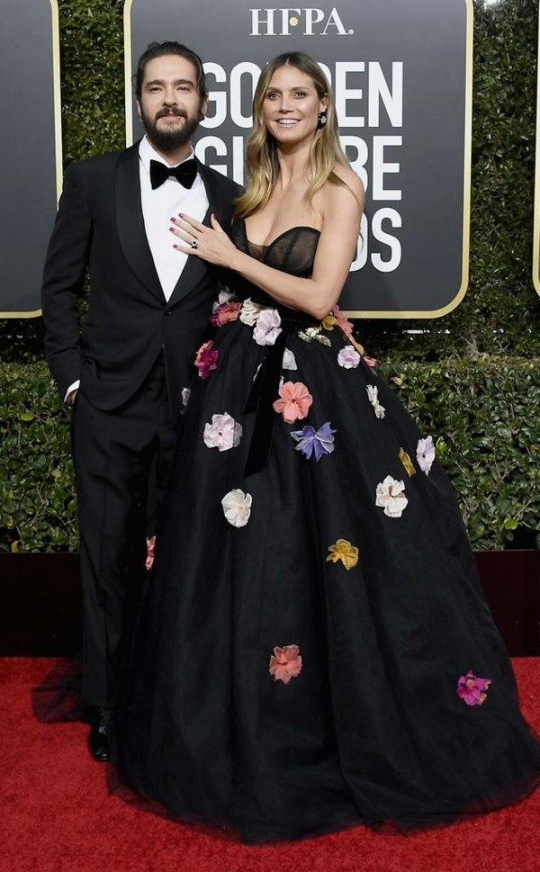 heidi klum und tom kaulitz golden globe awards