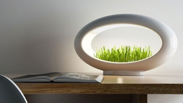hi tech tisch mit lampe