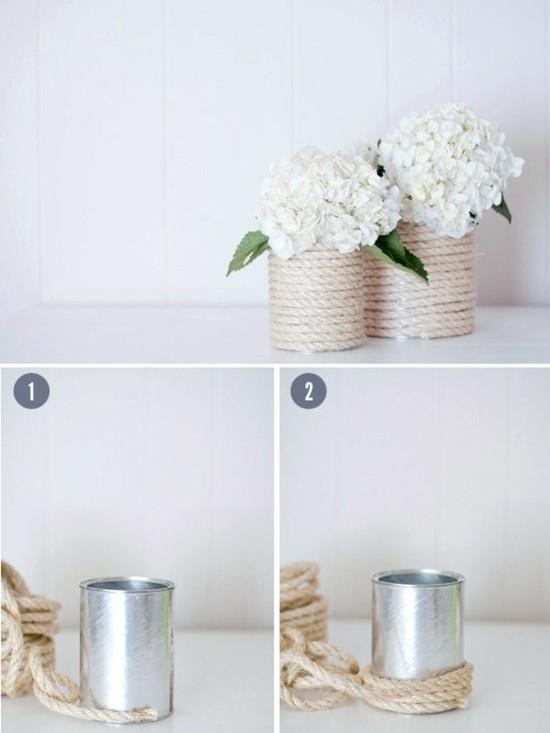 hochzeitsdeko selber machen blechdose vasen