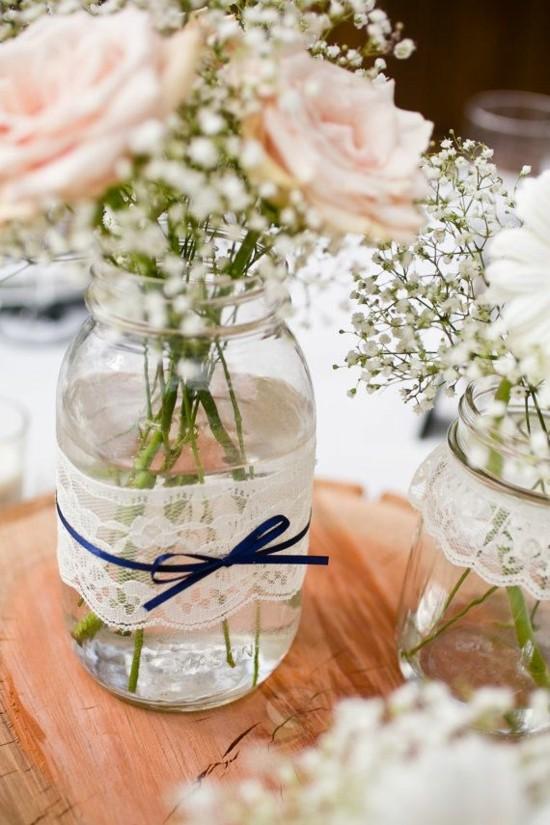 hochzeitsdeko selber machen einweckgläser als vasen