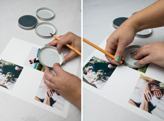 hochzeitsdeko selber machen foto untersetzer anleitung