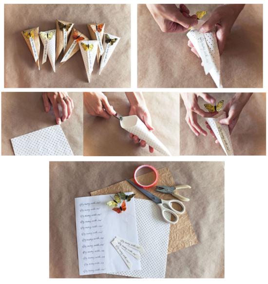 hochzeitsdeko selber machen konfetti tüte