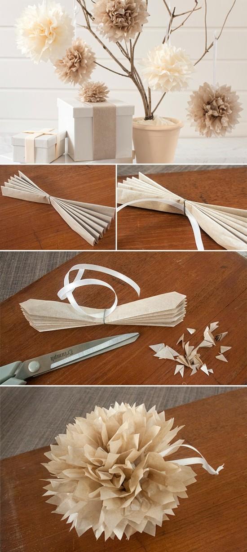 hochzeitsdeko selber machen romantische tischdeko aus papier