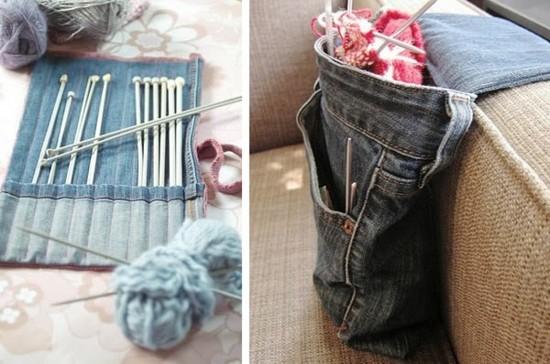 jeans upcycling ideen häkel zubehör selber machen