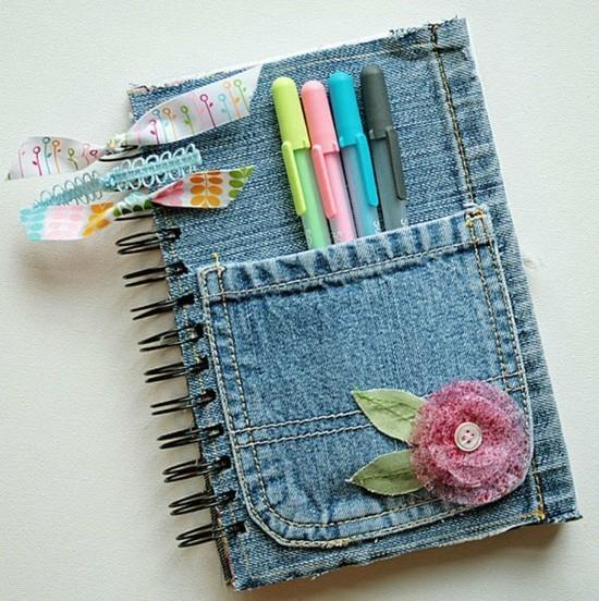 jeans upcycling ideen zum nachmachen notizbuch