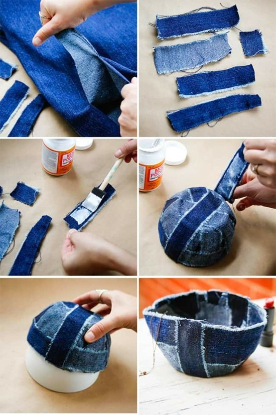 jeans upcycling schale selber machen