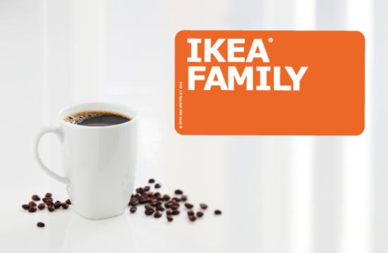 kaffee umsonst mit ikea family karte