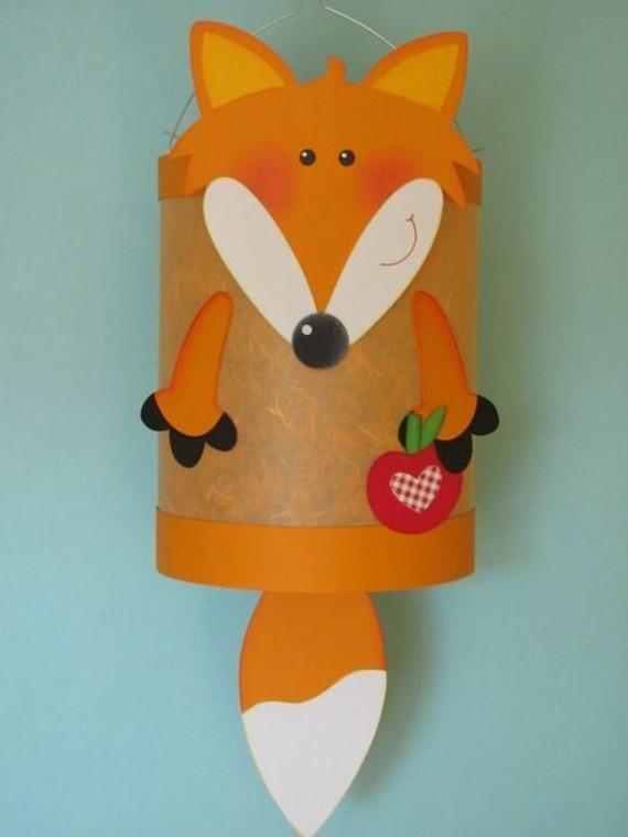 kinderleichte Laternen basteln DIY Papierlaterne Fuchs