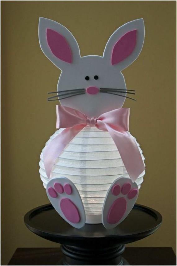 kinderleichte Laternen basteln DIY Papierlaterne Hase